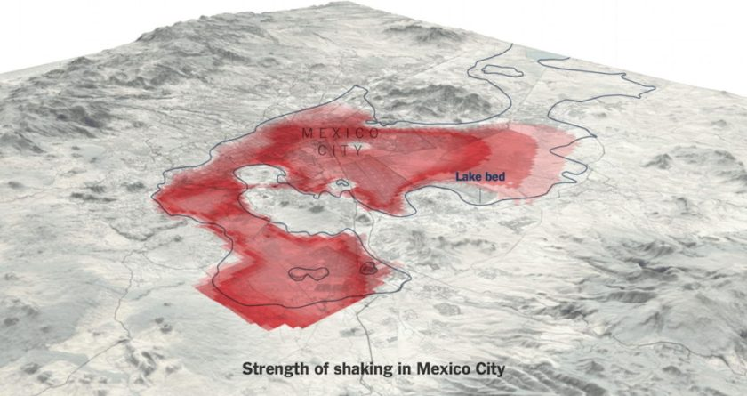 Mapping the Earthquake in Central Mexico – The Map Room