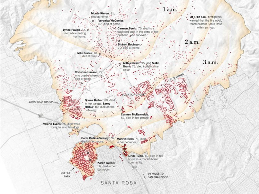 The New York Times Maps The Tubbs Fire The Map Room