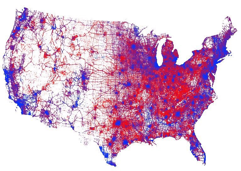 Kenneth Fields Dot Density Election Map The Map Room - Us-election-map