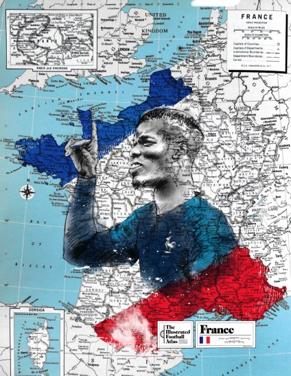 """Paul Pobga--France,"" from Michael Raisch, The Illustrated Football Atlas, 2018."
