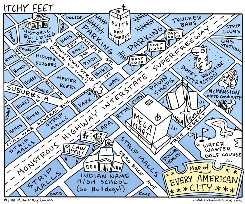 Itchy Feet: Map of Every American City