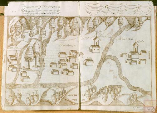 Temascaltepec, ca. 1579-1580. Archivo General de Indias. Ministerio de Educación, Cultura y Deporte, Gobierno de España.