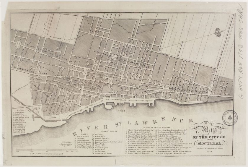 Map of the City of Montreal (1843)