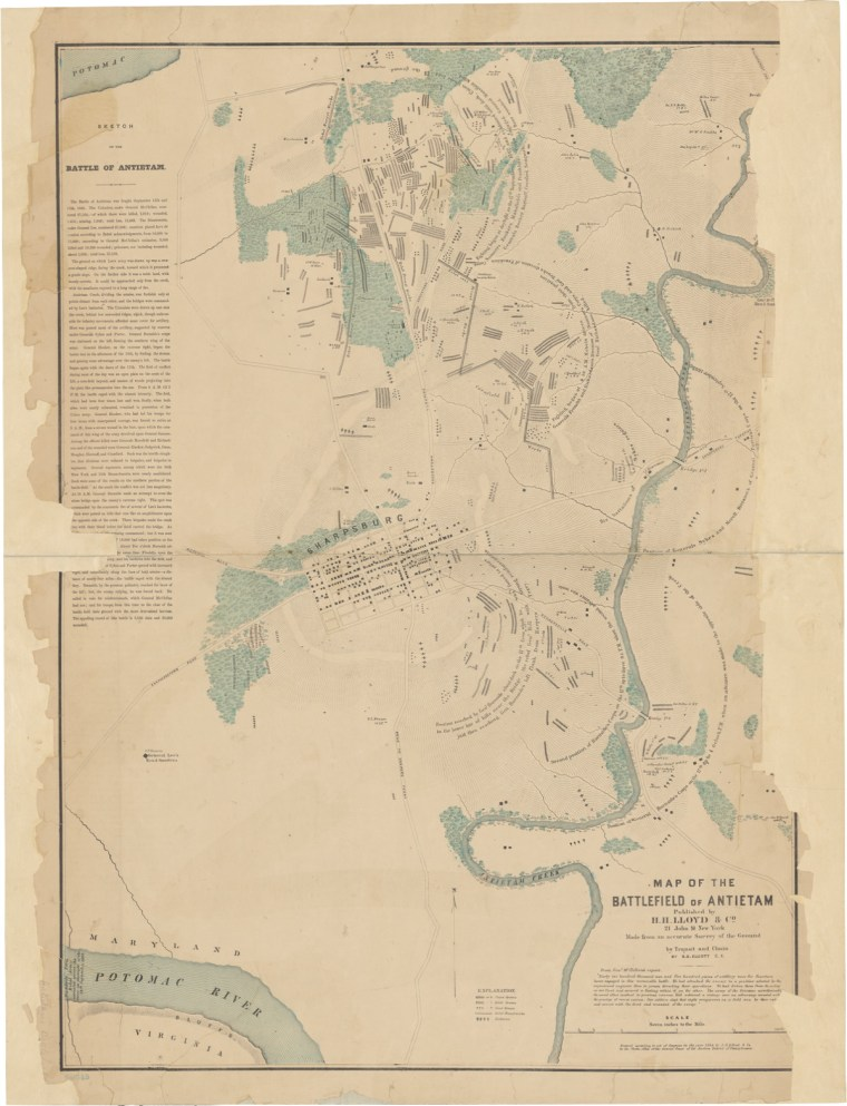 Map of the Battlefield of Antietam (1864)