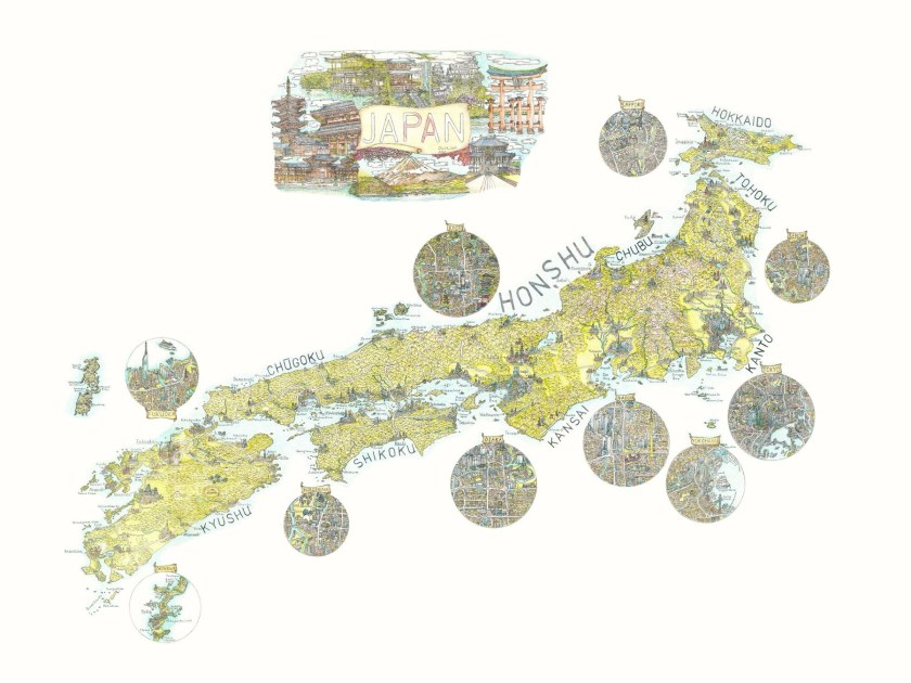 An Illustrative Map of Japan