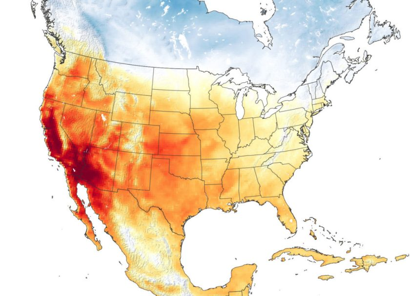NASA Earth Observatory: California Heatwave 2020