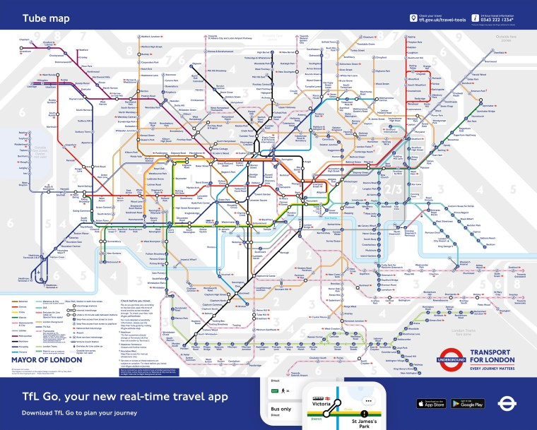 The new temporary Tube map