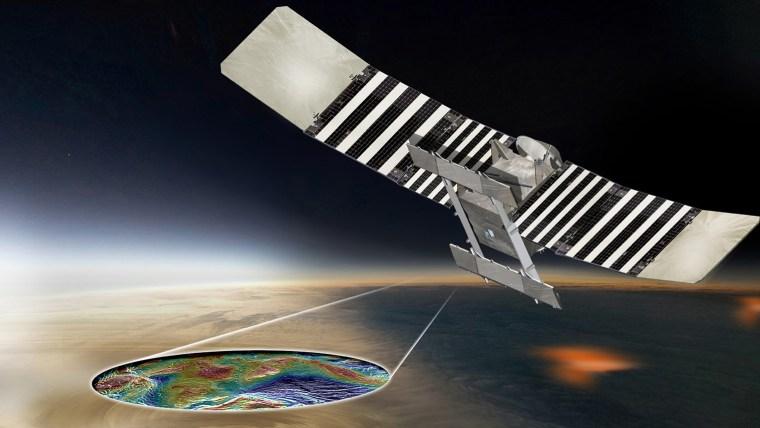 Artist's concept of the VERITAS mission to Venus (NASA/JPL-Caltech)