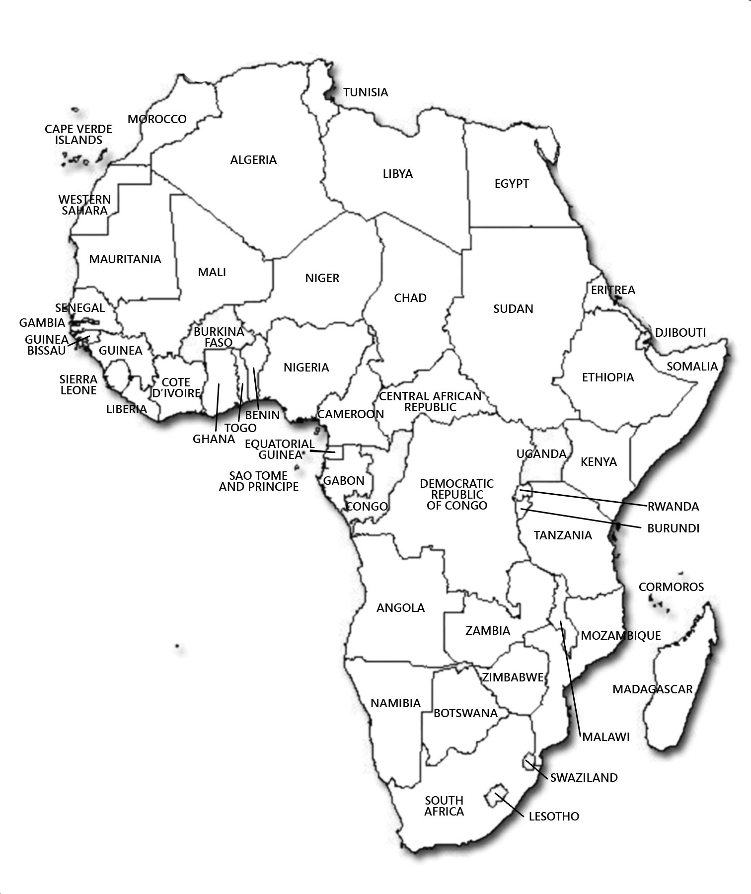 Maps Of Africa And African Countries