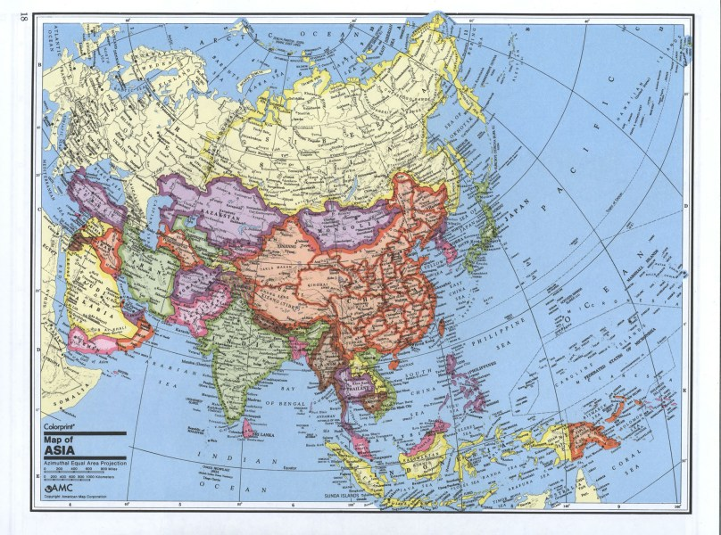 Maps of Asia and Asia countries   Political maps  Administrative and     Detailed political map of Asia
