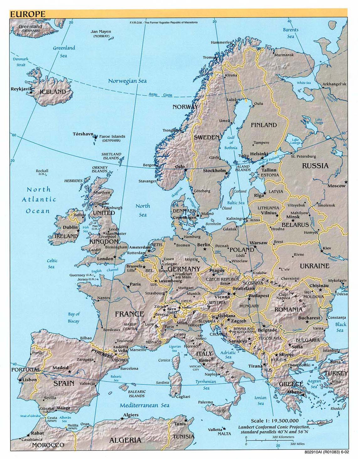 Maps Of Europe And European Countries Political Maps Administrative And Road Maps Physical And Topographical Maps Of Europe With Countries Maps Of The World
