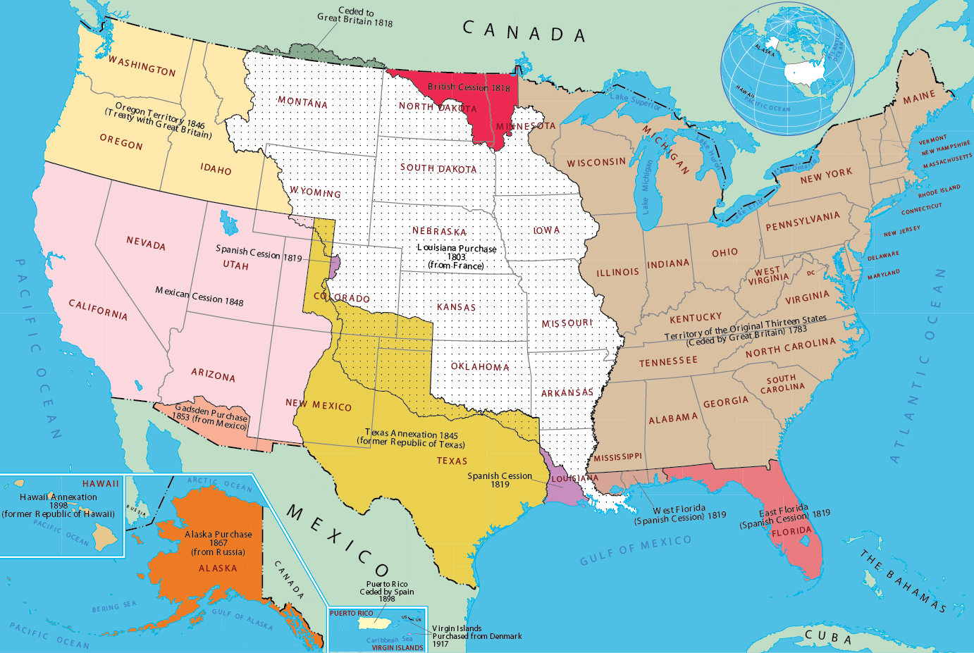 Historical Map Of United States