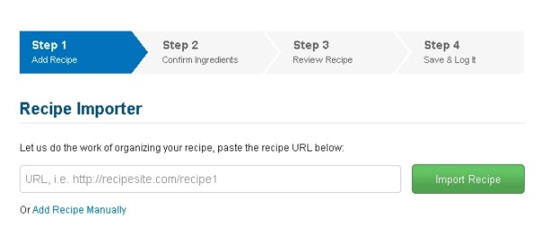 MyFitnessPal Recipe Import