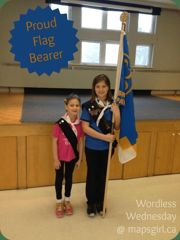 Girl Guide Flag Bearer