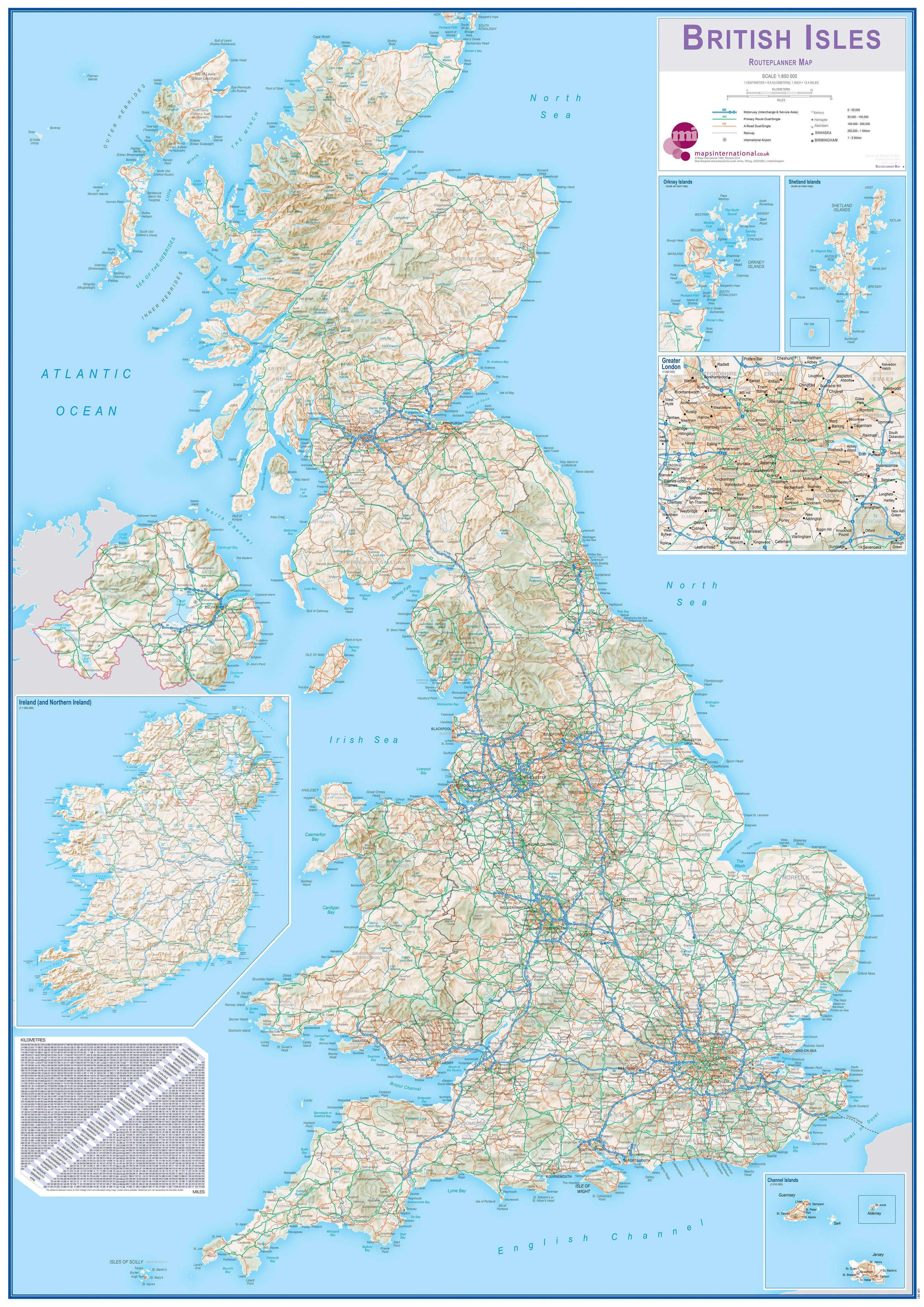 British Isles Routeplanning Map
