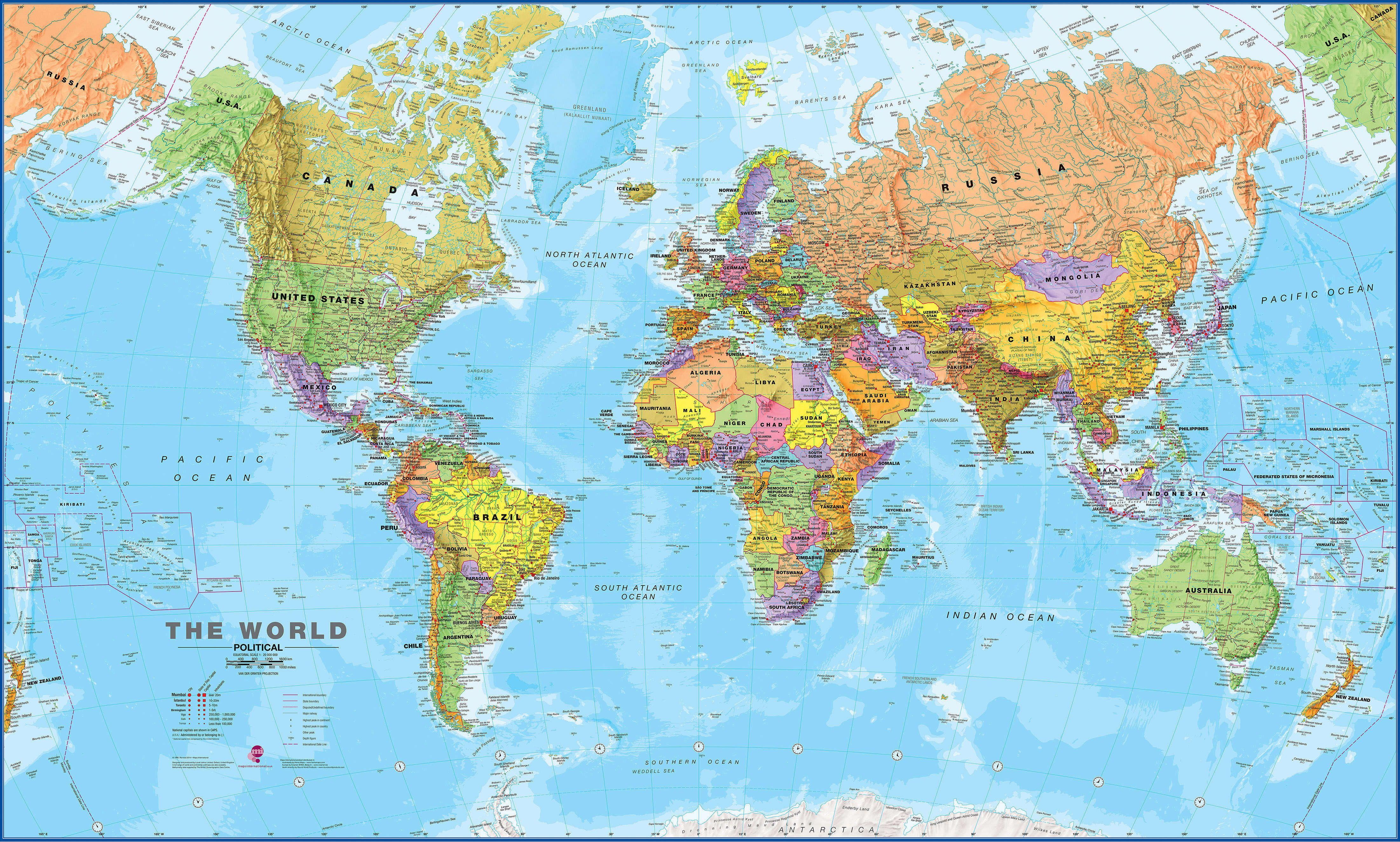 Large World Political Map