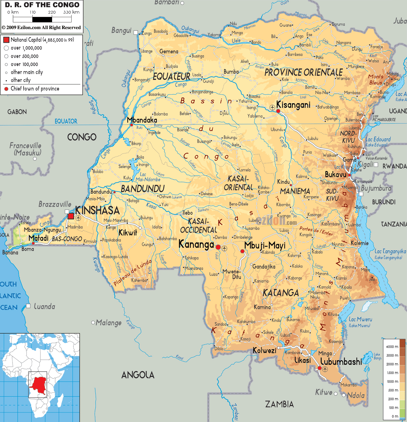 Congo The Democratic Republic Of The Map Coloring Pages