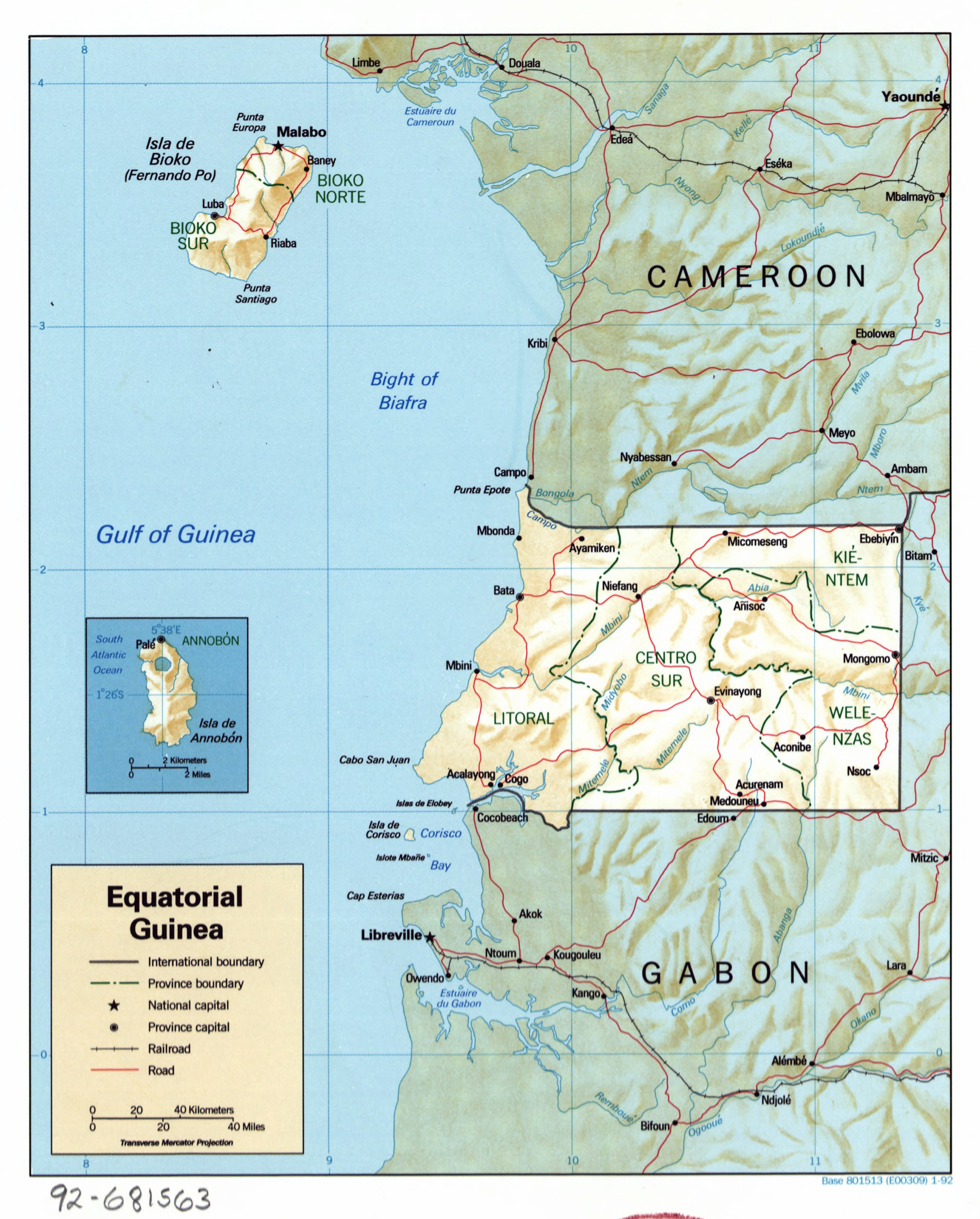 Equatorial Guinea Map Coloring Pages