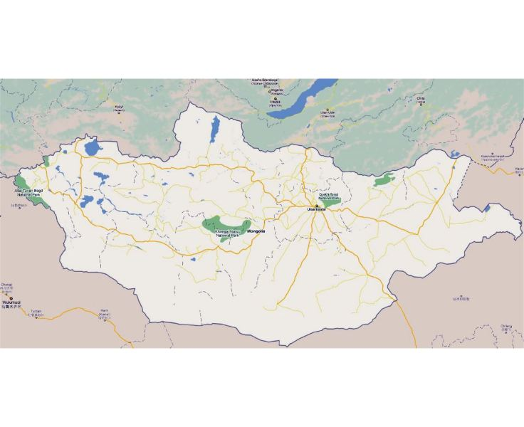 Maps of Mongolia   Detailed map of Mongolia in English   Tourist map     Large road map of Mongolia