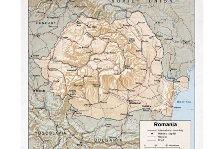 large detailed physical of romania map » Full HD MAPS Locations ...