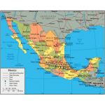 Political And Administrative Map Of Mexico With Roads Railroads Rivers And Cities Mexico North America Mapsland Maps Of The World