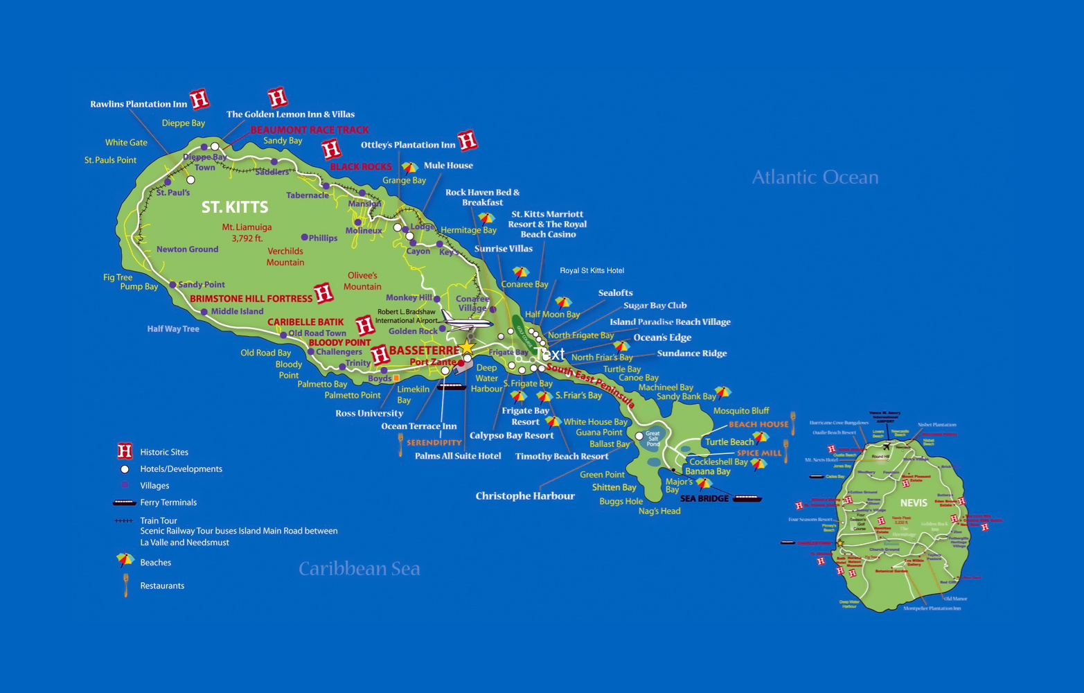 Saint Kitts And Nevis Map Coloring Pages