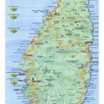 Large Travel Map Of Saint Lucia Saint Lucia North America Mapsland Maps Of The World
