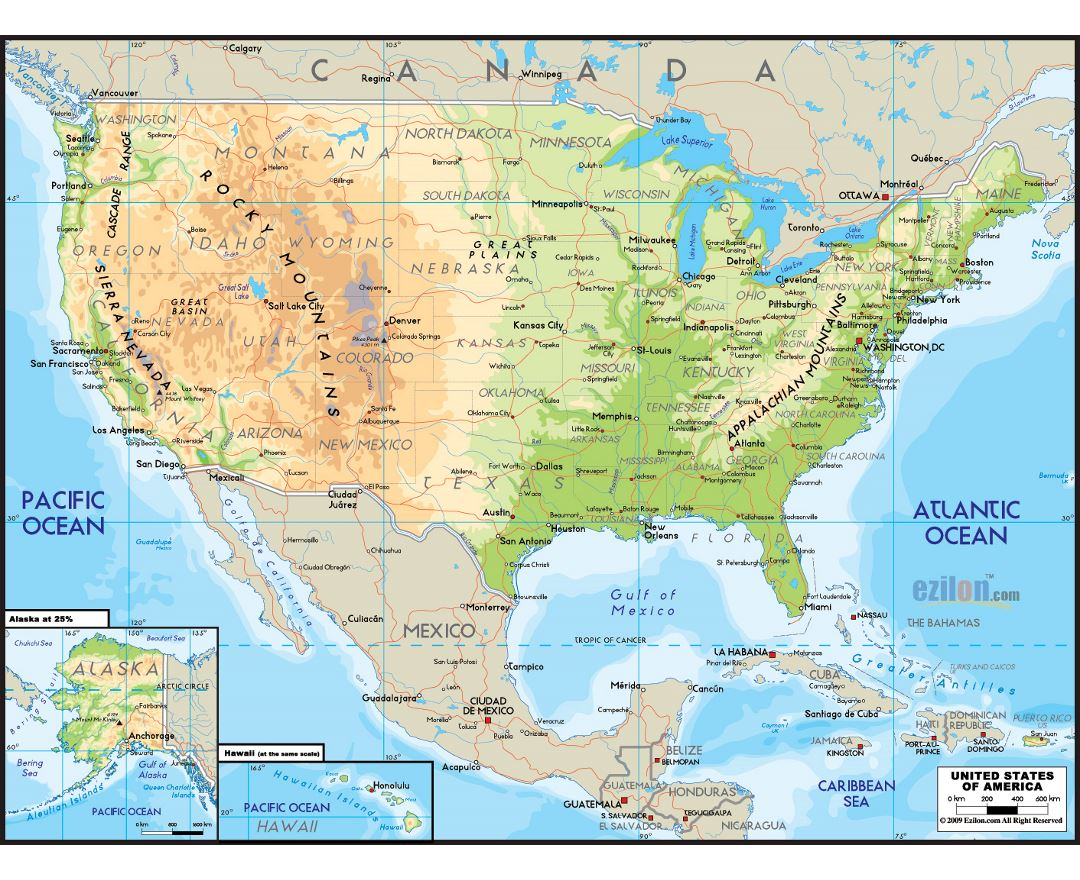 Maps Of The United States Of America Collection Of Maps Of The Usa North America Mapsland Maps Of The World