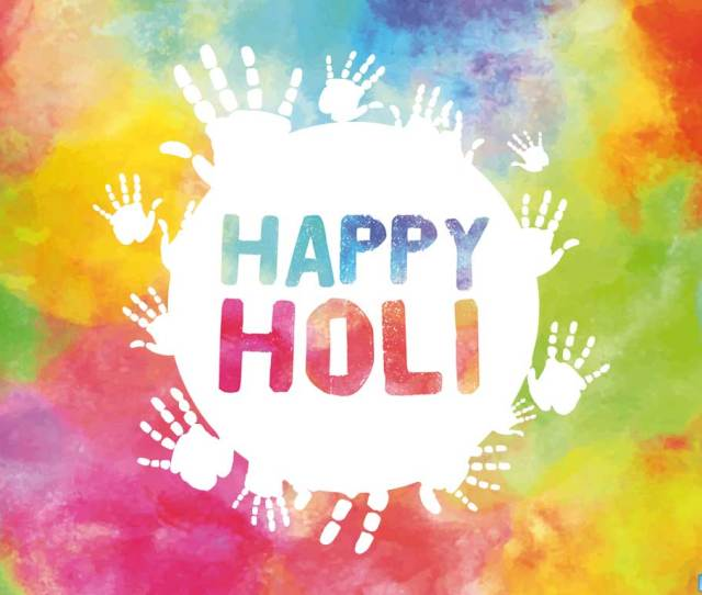 Holi Wallpaper With Hand Prints