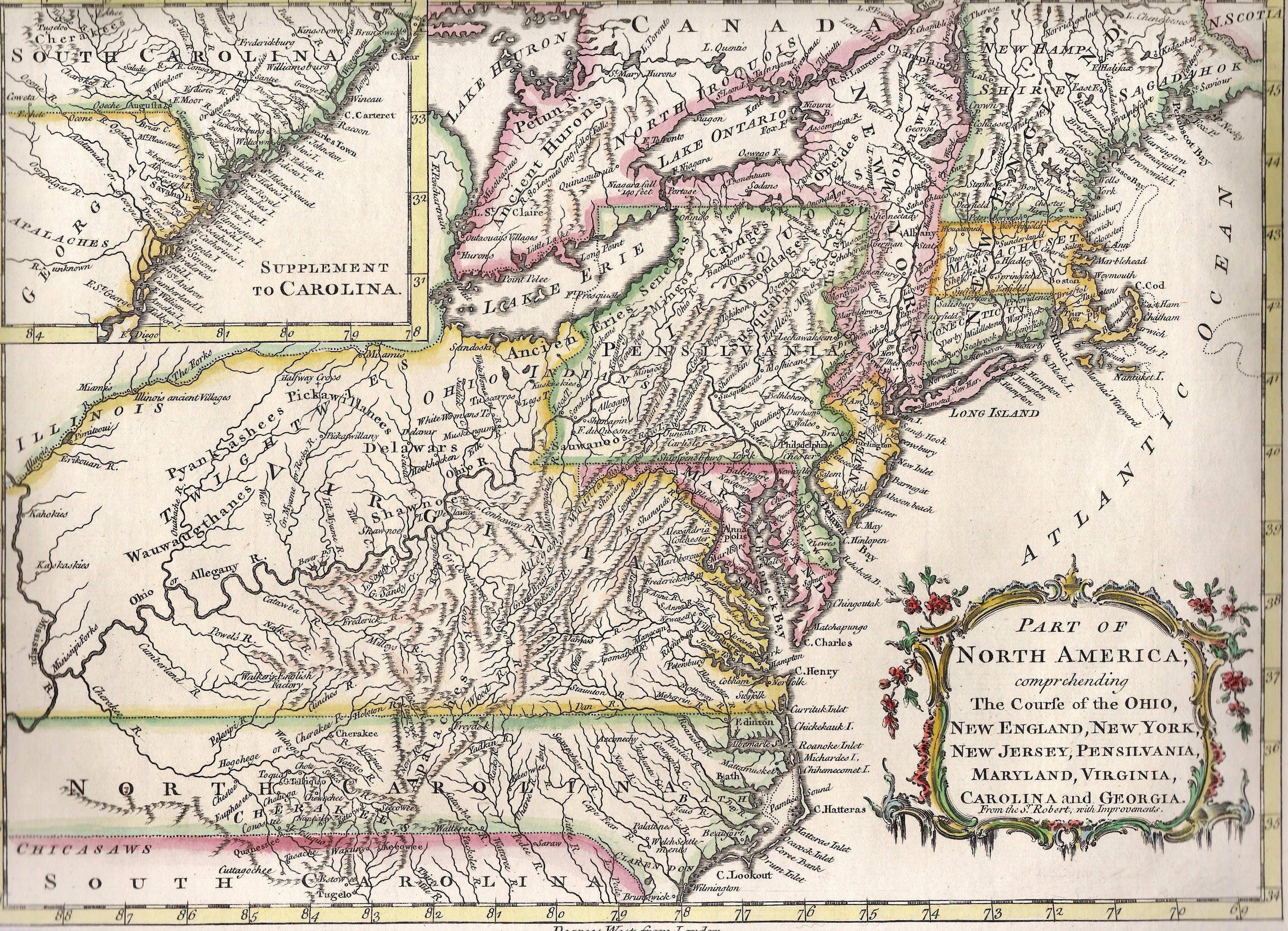 13 Colonies Digital Map