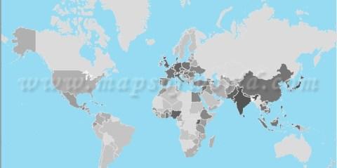 world population map density