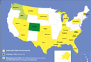 The US Map Demonstrating States with Stand Your Ground Law