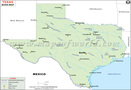 Map of Rivers in Texas