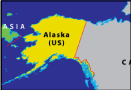 Map of largest state of USA