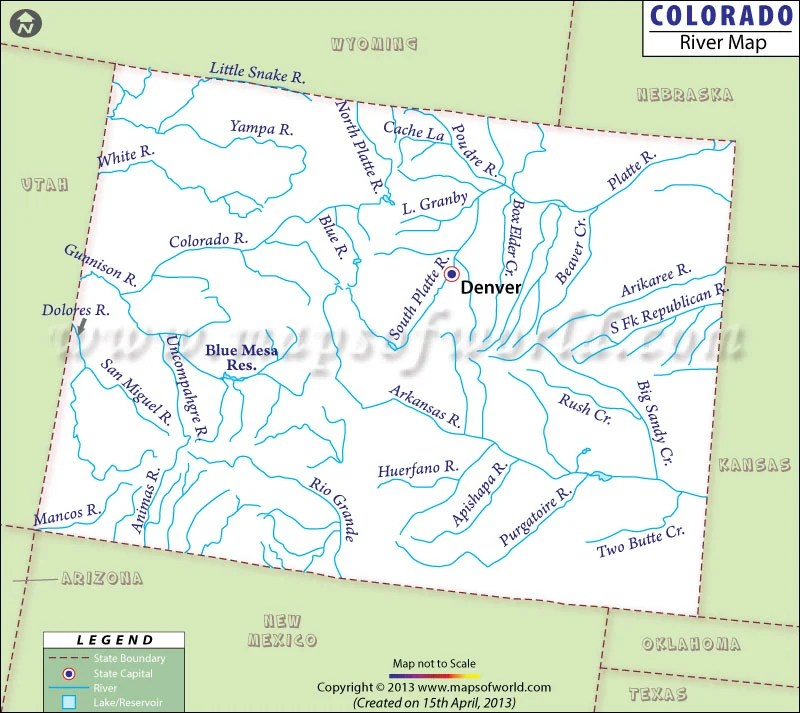 Map Usa Colorado Maps Of USA Maps Of Colorado State Collection Of - Us map colorado river