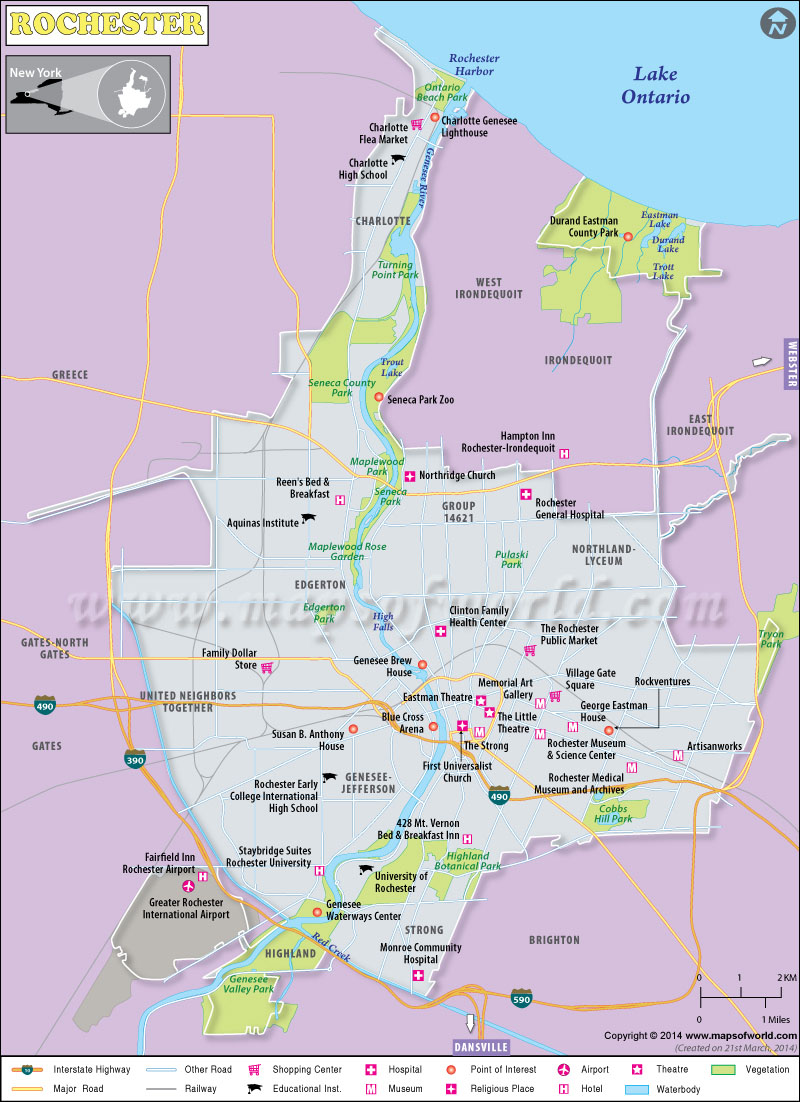 Map Of Rochester Mn Area