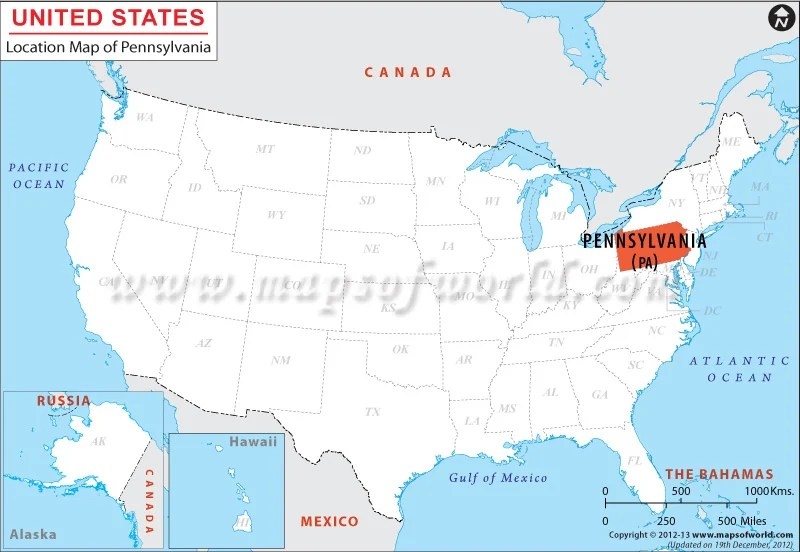 Map Of Northeast Us States