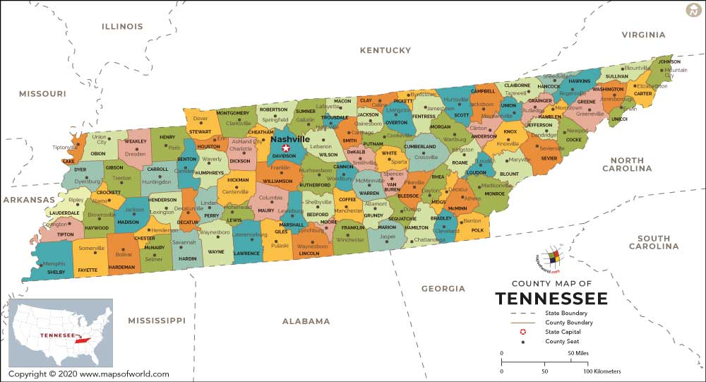 Map Of Nashville Tenn Area