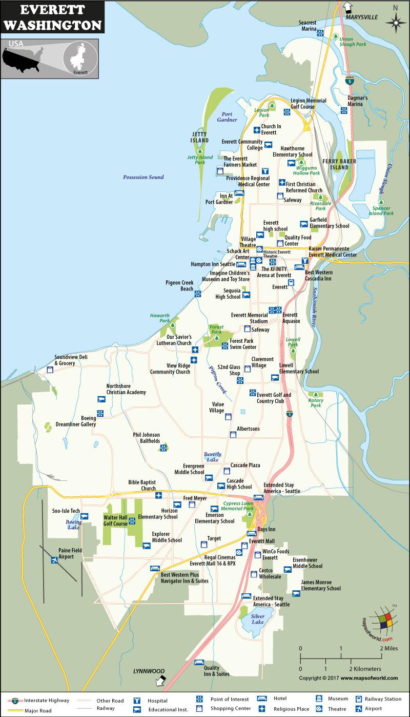 Elbe Road Map Everett Wa