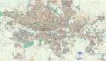 Gauteng Central Large Wall Map