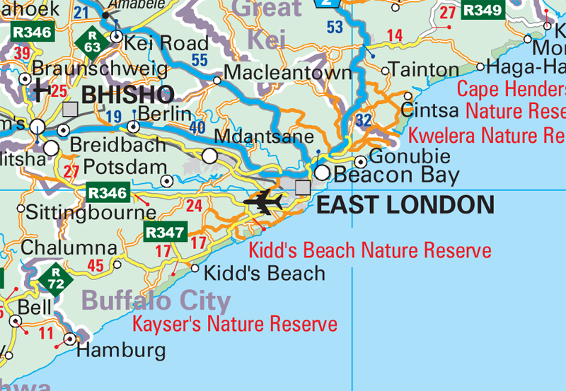Map Of South East London.General Information Wall Map South Africa Mapstudio