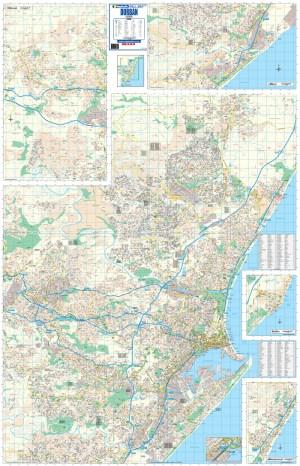 Durban Large Wall Map