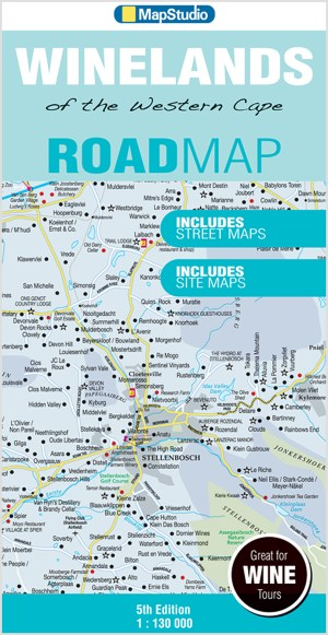 Winelands Western Cape Road Map