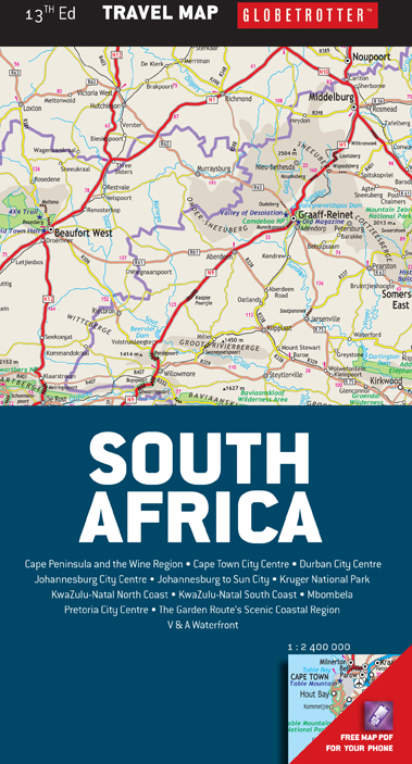 South Africa Travel Map Mapstudio Specifically For Tourists