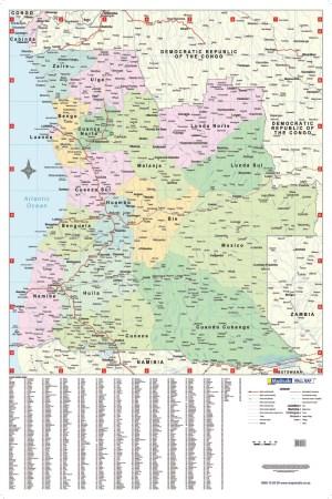 Angola Wall Map