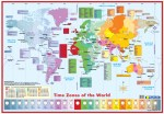 Time Zones World Educational Poster