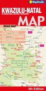 Kwazulu Natal-Pietermaritzburg Midlands Drakensberg Road Map
