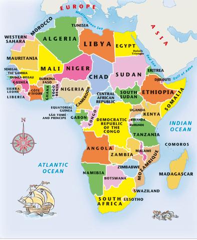 Africa Junior Jigsaw Puzzle   MapStudio