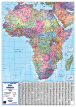 Africa Commercial Wall Map
