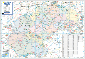 FREE STATE PROVINCIAL WALL MAP